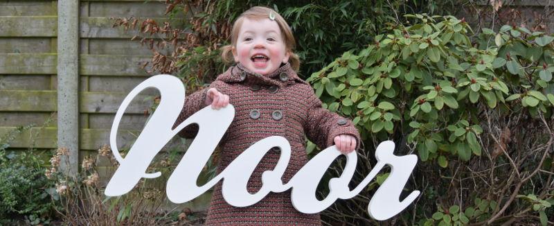 foto communiekaart houten letters