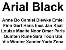 Arial Black Lettertype