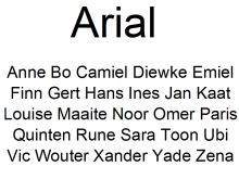 Arial Lettertype