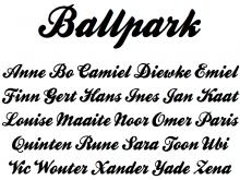 Ballpark Lettertype