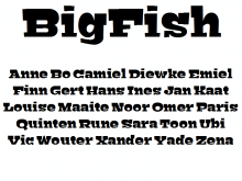 Bigfish Lettertype