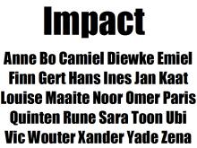 Impact Lettertype