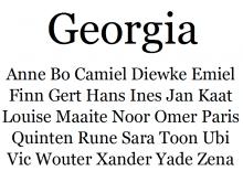 Lettertype Georgia