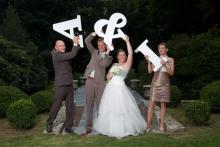 Leuke huwelijksfoto